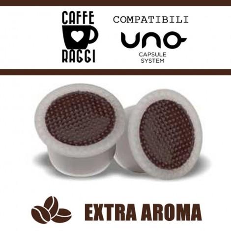 100 Capsule Compatibili Uno System Caffè Raggi Extra Aroma