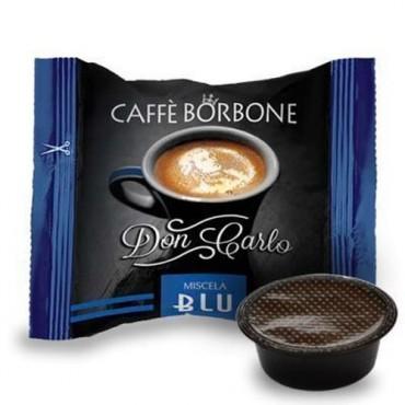 100 Borbone Don Carlo Tostatura Blu Compatibile A Modo Mio