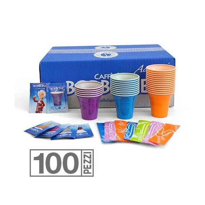 KIT 100 Zucchero, Palette, Bicchieri Borbone