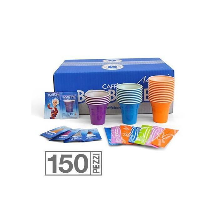KIT 150 Zucchero, Palette, Bicchieri Borbone