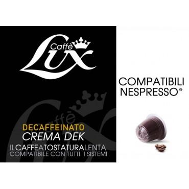 50 Capsule Caffe Lux Crema Dek Compatibile Nespresso