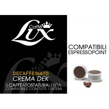 50 Capsule Caffe Lux Crema Dek Compatibile Espresso Point