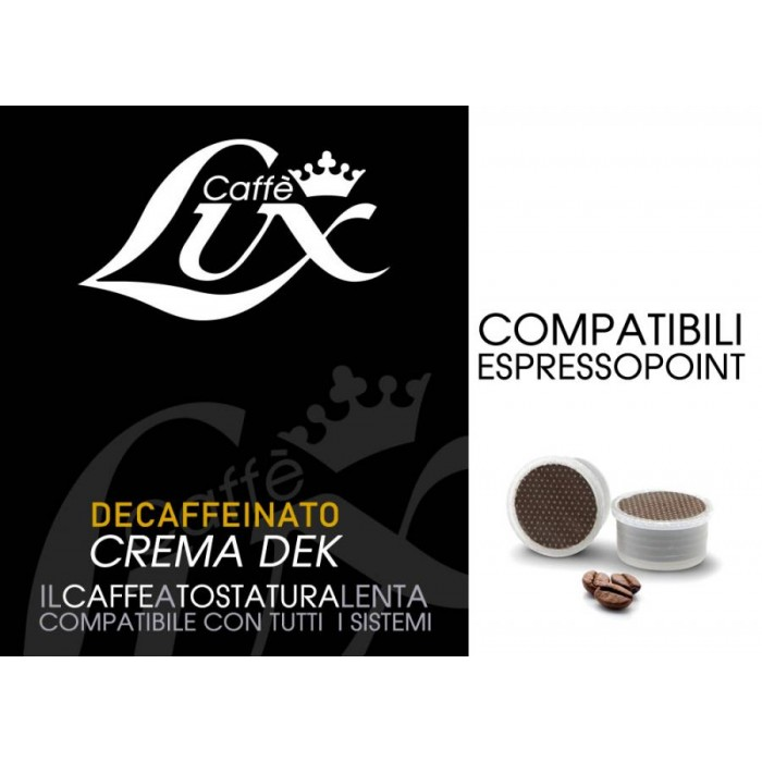 50 Capsules Caffe Lux Crema Dek Compatible Espresso Point Compatibile Espresso Point