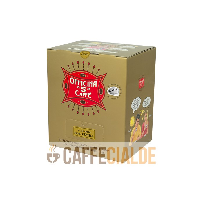 150 ESE pods 44mm GENTLE AROMA Officina 5 Caffe Cialde carta 44MM