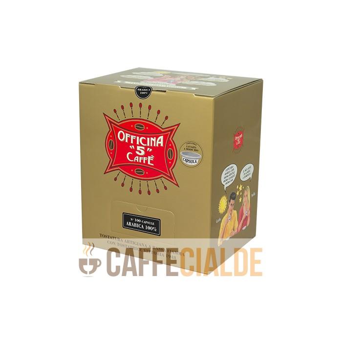 100 ARABICA 100% Officina 5 Caffe A modo Mio