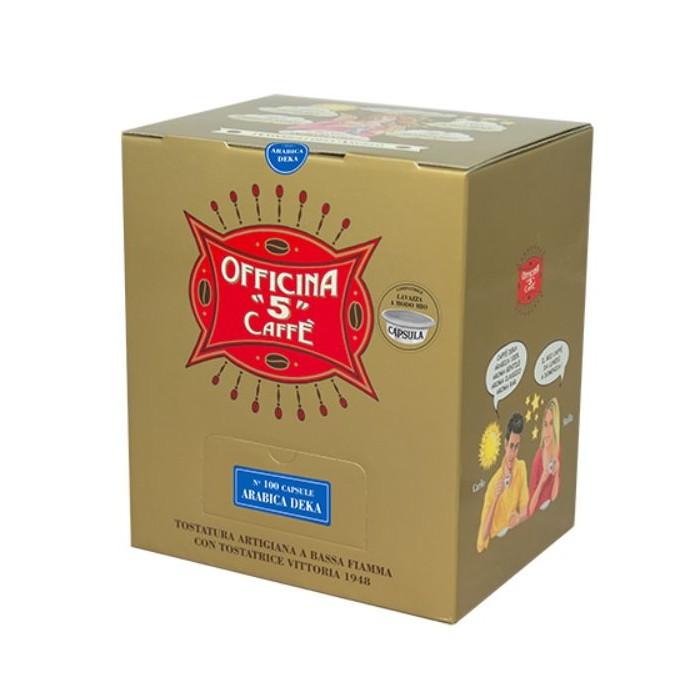 100 ARABICA DEK Compatibile A modo Mio Officina 5 Caffe