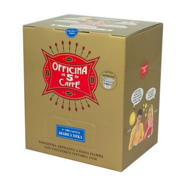 100 ARABICA DEK Compatibile Nespresso Officina 5 Caffe