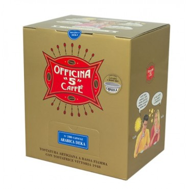 150 ARABICA DEK Cialde 44 MM Officina 5 Caffe