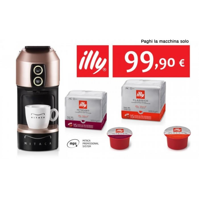 Mitaca Illy M1 MPS + kit assaggio MPS 48 Capsule